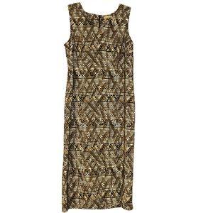 Kathie Lee Maxi Dress Size L NWOT